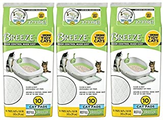 Tidy Cats BREEZE Cat Pads Refill Pack - 10 ct. Pouch - 3 Pouches