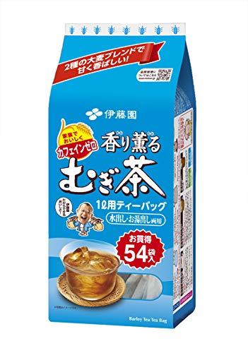 [旧品番]伊藤園香り薫るむぎ茶ティーバッグ54袋×10本