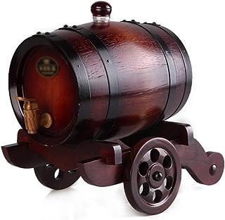 Vinification Vinification Barils Baril De Whiskey Distributeur De Bière Décoration De Bureau De Salon For 3L (Color : Brow...