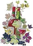 Kit de punto de cruz preimpreso set bordado DIY cuadros hechos a mano motivos de vino para principiantes y adultos