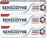 Sensodyne Sensibilidad y Encías Pasta de Dientes Blanqueante, Alivio para Dientes Sensibles, Protección Duradera frente a la Sensibilidad Dental, Pack de 3 x 75 ml
