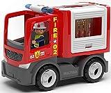 Aparatos multigo, camión, camión con figura de juguete, vehículo de bomberos con estructuras intercambiables.