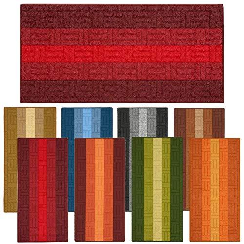 parpyon® Tappeto Multiuso Cinzy Tappeto Cucina Antiscivolo Lavabile, Tappeto Bagno, scendiletto passatoia Cucina, tappeti Moderni Varie Misure Colori (Rosso, 50X80)