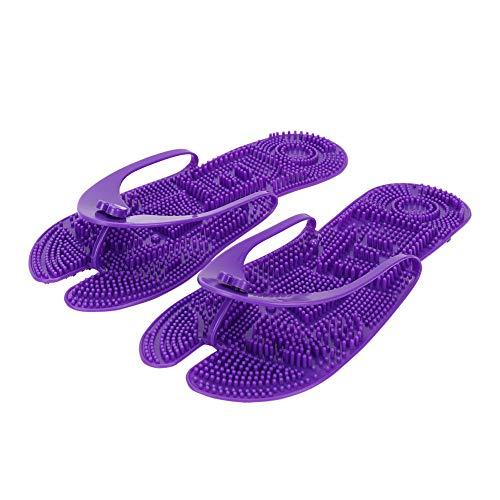 Hausschuhe Damen Herren Tragbare Badeschuhe Fatlbare Badelatschen Badeschlappen Massage Slippers Pantoffeln Plastik Slides mit Soft Sohle Erwachsene Flip Flops Sandalen für Bade Zuhause Hotel Reise