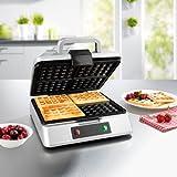 GOURMETmaxx Waffle Iron per 4 cialde belghe | Macchina per cialde con rivestimento...