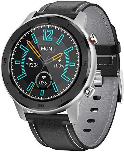 TYUI Reloj inteligente de 1,3 pulgadas para hombres y mujeres, seguimiento de la aptitud cardíaca, monitoreo del sueño compatible con teléfonos Android e iOS-G