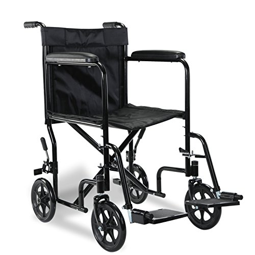 Superworth Ultra Lightweight Wheelchair Folding Comfortable Portable Transit Travel 8' Wheels 100kg Capacity