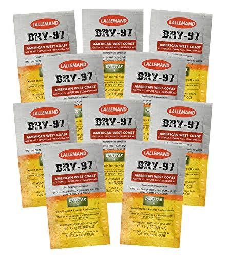 Danstar BRY-97 Ale Levadura de 11 g de fermentación rápida cerveza estilo de la costa oeste americana (10 unidades)