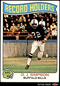 1975 Topps # 355 Record Breaker O.J. Simpson Buffalo Bills (Football Card) Dean's Cards 3 - VG Bills