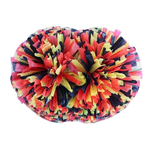 Black Temptation Style de poignée 2PCS (Protégez Votre Doigt) Cheerleading Poms avec des Couleurs Vives, A8