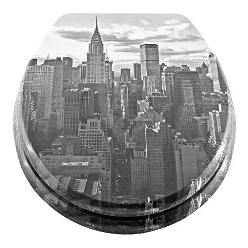 Georges WC-Sitz mit Absenkautomatik in verschiedenen Designs - Edition 2019 - neu und verbessert (New York)