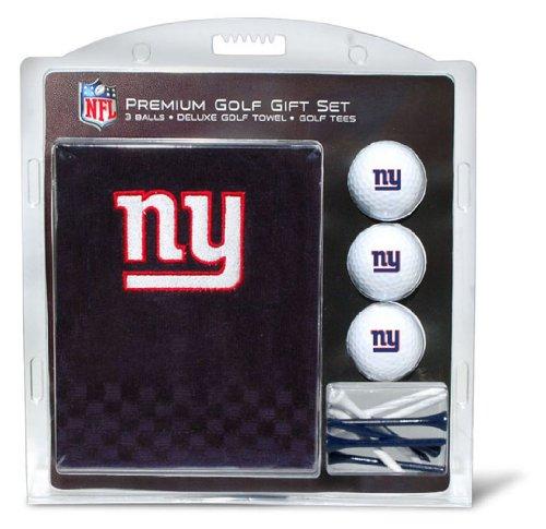 Team Golf NFL New York Giants Geschenkset Besticktes Golf-Handtuch, 3 Golfbälle und 14 Golf-Tees 6,5 cm Regulierung, dreifach gefaltetes Handtuch 40,6 x 55,9 cm und 100 % Baumwolle