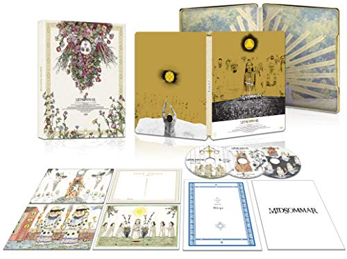 【Amazon.co.jp限定】ミッドサマー 豪華版3枚組(スチールブック仕様・初回生産限定版)(ミニポスター3種付) [Blu-ray]