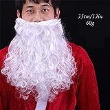 Perruque Et Barbe Père Noël Ensemble Super Deluxe Santa Claus Perruques Courtes Cheveux Bouclés...