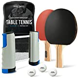 ProSpin-USA Ping Pong Paddle Set - All-in-One Kit with Portable Table Tennis Net