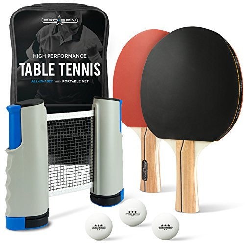 Review Of All-in-ONE Ping Pong Set - Includes Ping Pong Net for Any Table, 2 Ping Pong Paddles/Racke...