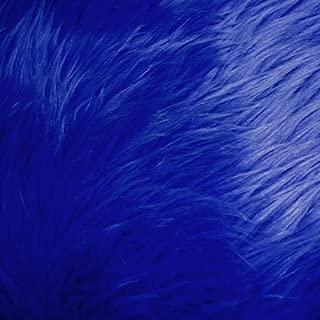 Royal Blue Shag Faux Fur Fabric 60