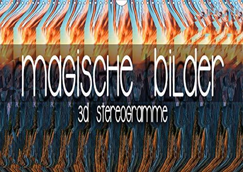 Magische Bilder - 3D Stereogramme (Wandkalender 2021 DIN A3 quer)