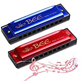 Best Harmonicas - Harmonica,2 Piece Harmonica for Beginners,Harmonica for kids,10 Holes Review