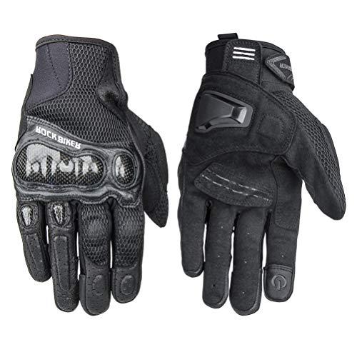 LEXIN Herren Handschuhe, Rollerfahrer Handschuhe, Touchscreen Sport Handschuhe für Schlitten, Ski, Motorrad, Motorcross, Fahrrad, Mountainbike, Paintball und Mountainbike L
