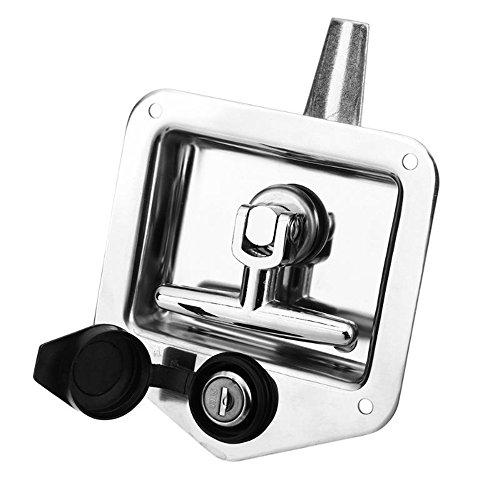 KKmoon Acero inoxidable Car plegable plegado en forma de T Handle Lock...