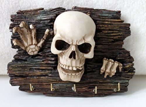 Vogler Schlüsselbrett Totenschädel 18 cm Polyraisin Scull Gothic