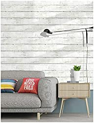 HaokHome 5030 Shiplap Peel and Stick Wood Wallpaper