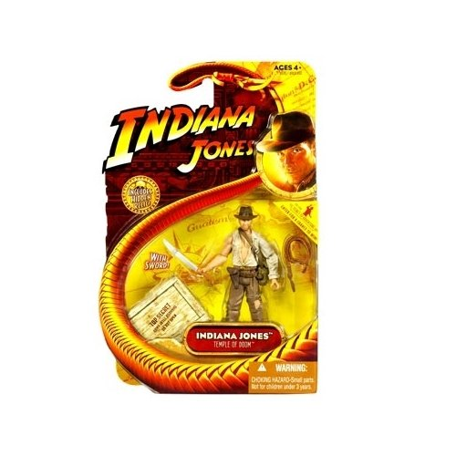 BestMaxs Movie Hasbro Series 4 Action Figure Indiana Jones with Whip and Machette (Temple of Doom)