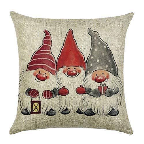 AQ89 Home Pillowcases Christmas Pillow Case Santa Cotton Linen Sofa Car Throw Cushion Cover Home Decor Home & Garden Pillow Case