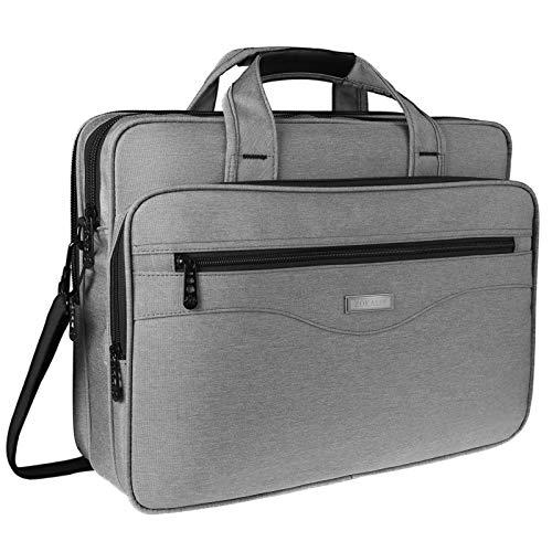 17 Inch Laptop Bag, Large Business Briefcase for Men Women, Travel Laptop Case Shoulder Bag, Waterproof Computer Messenger Bag, Durable office Carrying Case Fits 17 15.