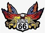 Parche de águila Route 66 para cazadora y chaleco de motorista, tamaño pequeño