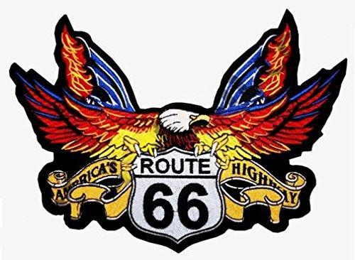 Parche de águila Route 66 para cazadora y chaleco de motorista, tamaño...