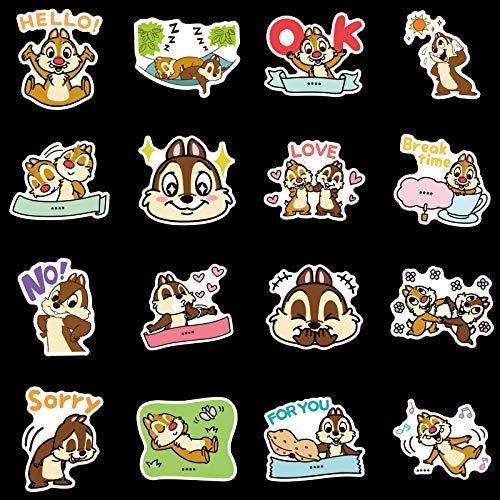 WWLL 100 piezas de Disney Qiqididi rodeando pegatinas maletas maletas taza teléfono móvil caja lápiz pegatinas