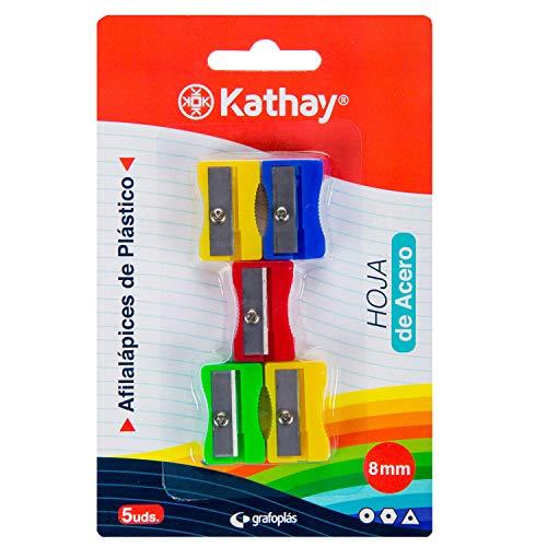 Kathay 86614099 Spitzer aus Kunststoff mit Stahlklinge, 8 mm, verschiedene Farben