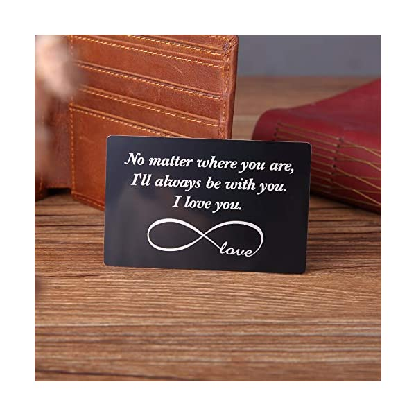 Engraved Wallet Insert Anniversary Gifts for Men