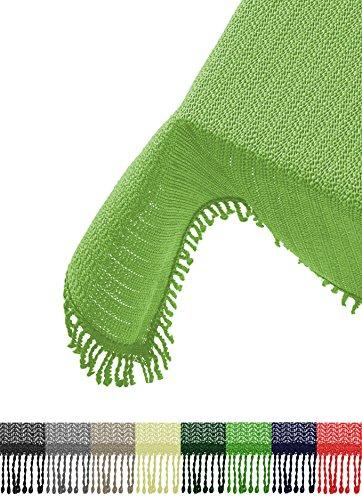 Brandsseller Gartentischdecke Tischdecke - wetterfest und rutschfest für Garten, Balkon und Camping - Eckig 110 x 140 cm - Farbe: Hellgrün