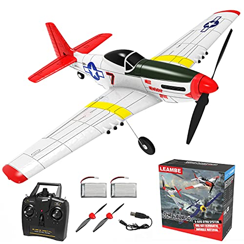 Remote Control Aircraft Plane, RC Plane with 3 Modes That Easy to Control, One-Key U-Turn Easy Control for Adults &Kids, LEAMBE
