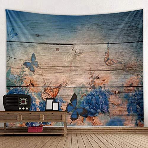 Décor de Chambre décoration 3D Papillon Fleur Imprimer Tapisserie Tapisserie Mandala Tapisserie Boho Ronde Plage Serviette Sunblock Couverture Tapis De Yoga Bohème 150 * 130cm