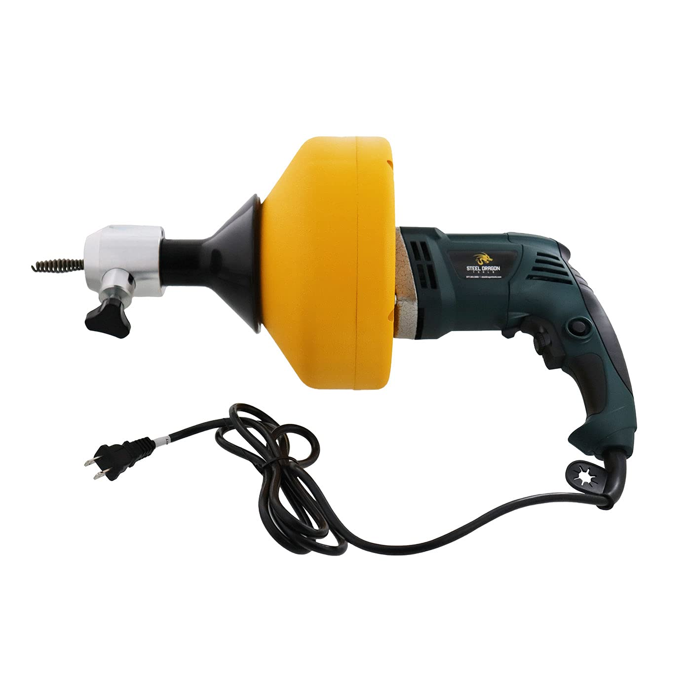"""Steel Dragon Tools 62A Drain Cleaning Machine with 5/16"""" x 35' Snake Cable"""