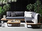Beliani Modernes Lounge Set in Grau aus FSC Akazienholz Mykonos
