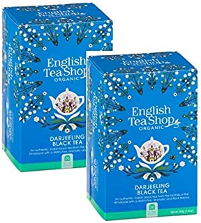 DEU English Tea Shop Darjeeling Nachmittag Schwarzer Tee - 2 x 20 Bustine di Tè 80 Gramm