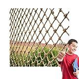 Red de Seguridad para Exteriores Red de Cuerda, Red de Malla de Hilo de Yute Red de Cuerda de Cáñamo Red De Yute Paisaje Red de Cáñamo Premium Red de Escalada de Pájaros Porche Jardín Valla de Malla(c