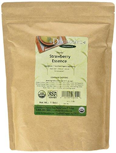 Davidson's Tea Bulk, Strawberry Essence, 1 lb Bag