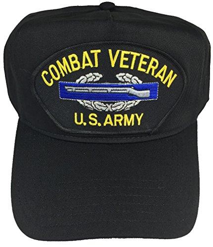Combat Veteran U.S. Army W/Combat Infantry Badge CIB HAT - Black - Veteran Owned Business