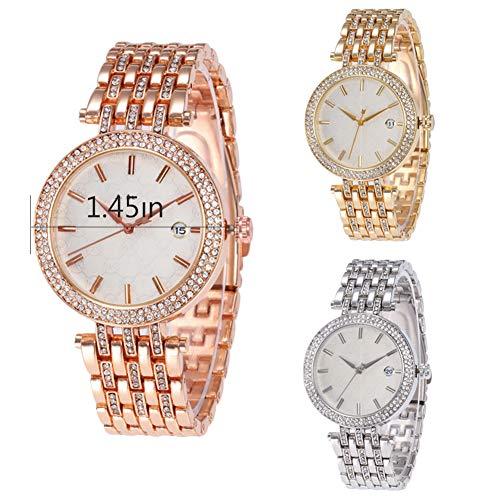 Sahoga Damen Armbanduhr Wasserdicht Strass Uhren Elegant Quarz Uhren Intarsien Lässig Analog Quarzuhr Sportuhr Frauen Exquisite Uhr