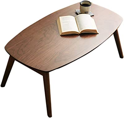 Solid Wood Coffee Table Japanese Foldable Coffee Table Living Room Tatami Coffee Table Home Low Table Foldable (Color : Walnut, Size : 100x55x40cm)