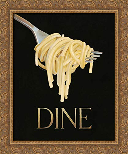 Fabiano, Marco 19x24 Gold Ornate Framed Canvas Art Print Titled: Gourmet Pasta