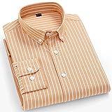 XJJZS Camisas de rayas para hombre de algodón puro Oxford Tela Escocesa de negocios Casual Hombre largo Hombre de  Camisa (Color : N, Size : 42 180CM 75KG)