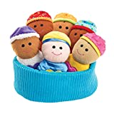 Excellerations Plush Basket of Sensory Baby Dolls – Includes Basket, 6 Soft Multicultural Babies – Perfect for Infants, Toddlers in Daycare or Home –Tactile Fabric and Sounds for Engaging Sensory Play