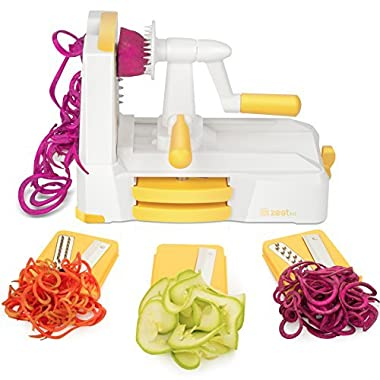 Zestkit Tri - Blade Spiralizer Vegetable Slicer Strongest - and - the Heaviest Duty Veggie Pasta & Spaghetti Maker for Low Carb/Paleo/Gluten - Free Meals